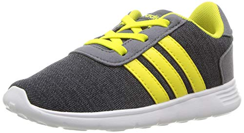 buy online 42f75 e2014 adidas Baby Lite Racer Running Shoe, Carbon Shock Yellow Onix, 6K M US  Toddler Offers