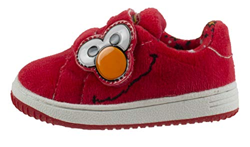 8136251cf014e Sneakers – Sesame Street Elmo Baby Toddler Shoes with Strap, Red ...