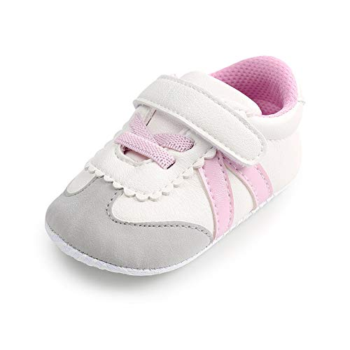 b6398bcbe6efc Sneakers – Baby Girls Boys Shoes Soft Sole Anti-Slip Toddler First Walker  Infant Leather Sneakers Newborn Crib Shoes(6-12 Months M US Infant